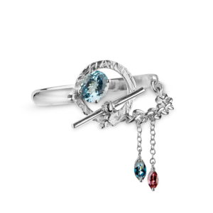 Zydrune Celestial 'NGC6960' designer gemstone bracelet.