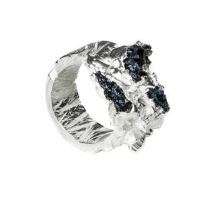 Zydrune Anomaly jewellery, 'Dendrite' engraved ring.